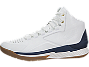 Under Armour Curry 1 Lux Mid Leather 男子板鞋/休闲鞋 1296616-100